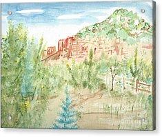 Backyard Sedona Acrylic Print