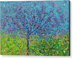 Purple Tree Acrylic Print by Kat Griffin