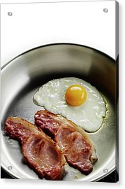 Bacon And Eggs Cooking In A Frying Pan Acrylic Print