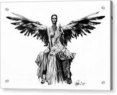 Bad Angel Acrylic Print by Mario Pichler