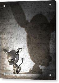 Bad Dog Acrylic Print by Vanessa Bates