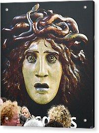 bad hair day at d'Orsay museum, Paris.  Acrylic Print by Joe Schofield