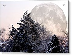 Bad Moon Risin' Acrylic Print by Russell  King