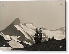 Fog In Mountains Acrylic Print