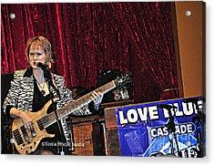 Acrylic Print featuring the photograph Badass Blues Bassist Lisa Mann by Tonia Noelle
