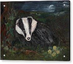 Badger Acrylic Print by Carol Rowland