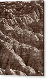 Badlands Light Bw Acrylic Print