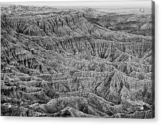 Acrylic Print featuring the photograph Badlands Of Great American Southwest - 3 by Photography  By Sai