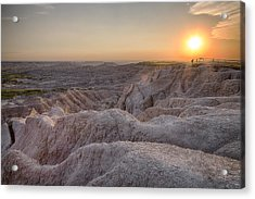Badlands Overlook Sunset Acrylic Print by Adam Romanowicz