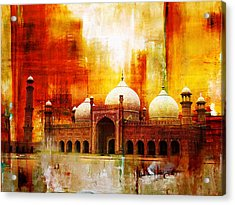 Badshahi Mosque Or The Royal Mosque Acrylic Print by Catf