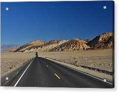 Acrylic Print featuring the photograph Badwater Road - Death Valley by Dana Sohr