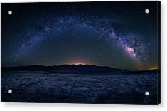Badwater Under The Night Sky Acrylic Print