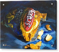 Bag Of Chips Acrylic Print by LaVonne Hand