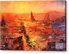 Bagan Ruins Acrylic Print by Ryan Fox