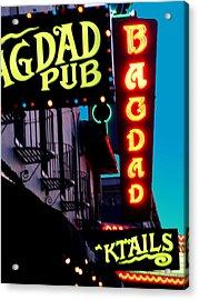 Bagdad Pub Acrylic Print by Gail Lawnicki