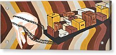 Acrylic Print featuring the painting Baggage by Erika Chamberlin