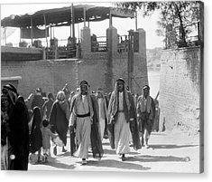 Baghdad Steet Scene Acrylic Print by Underwood Archives