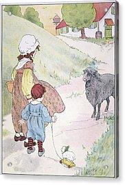 Bah Bah Black Sheep, 1916 Acrylic Print