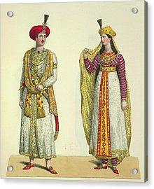 Bahadour Shah And Suria Banu Acrylic Print by British Library