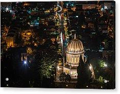 Baha'i Temple At Night Acrylic Print