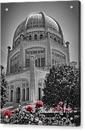 Bahai Temple Wilmette In Black And White Acrylic Print