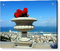 Acrylic Print featuring the photograph Bahai's Garden - Haifa by Jason Sentuf