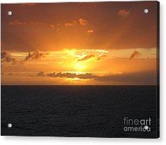 Acrylic Print featuring the photograph Bahamas Ocean Sunset by John Telfer