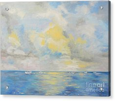 Bahamian Skies Acrylic Print by Barbara Anna Knauf