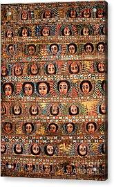 Bahar Bahir Dar Ethiopia Bright Colour Painted Church Ceiling Acrylic Print