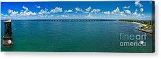 Bahia Honda Bridge Panorama Acrylic Print