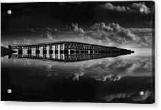 Bahia Honda Bridge Reflection Acrylic Print