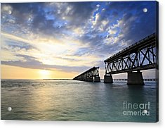 Bahia Honda Old Bridge Acrylic Print by Eyzen Medina