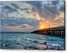 Bahia Honda Sunset Acrylic Print