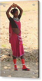 Baiga Tribal India Acrylic Print by Ranjan Basu