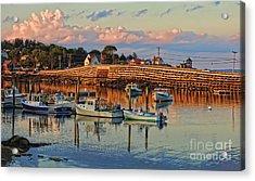 Bailey Island Bridge At Sunset Acrylic Print