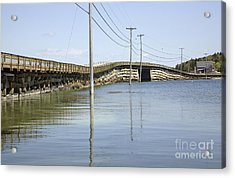 Bailey Island Bridge - Harpswell Maine Usa Acrylic Print by Erin Paul Donovan