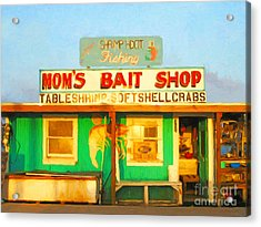 Bait Shop 20130309-1 Acrylic Print by Wingsdomain Art and Photography