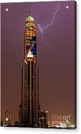 Baiyoke Sky Hotel  -  Strike One. Acrylic Print by Pete Reynolds