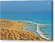 Acrylic Print featuring the photograph Baja California - Desert Meets Ocean by Christine Till