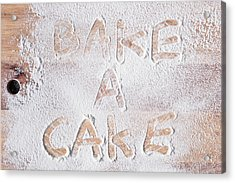 Bake A Cake Acrylic Print