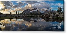 Baker Dusk Cloudscape Acrylic Print by Mike Reid