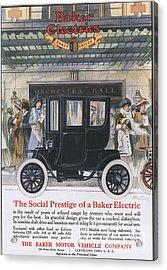 Baker Electric Cars 1910s Usa Acrylic Print