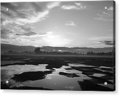 Acrylic Print featuring the photograph Bakersfield In Black And White by Meghan at FireBonnet Art