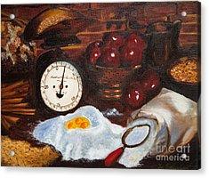 Baking From Scratch Acrylic Print by Iris Richardson