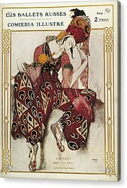 Bakst, L�on 1866-1924. La P�ri. 1911 Acrylic Print by Everett