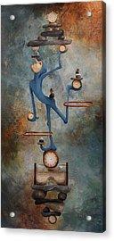 Balance Acrylic Print by Lorraine Ulen