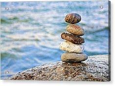 Balanced Pebbles Acrylic Print