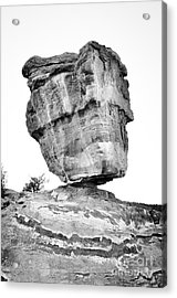 Balanced Rock In Black And White Acrylic Print