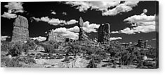 Balanced Rock Acrylic Print by Larry Carr