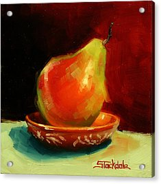 Acrylic Print featuring the painting Balancing Act by Margaret Stockdale